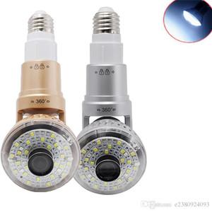 لمبة الضوء LED لاسلكية IP WIFI FishEye CAMERA 720P عرض كامل مصغرة CCTV كاميرا أمن الوطن واي فاي الكاميرا