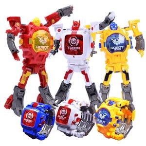 Enfants Sports d'action Regarder Robot Figures Transformation Jeux d'enfants étudiant LED Montre numérique jouet de Noël avec batterie enfants