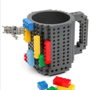 300-400 ملليلتر الإبداعية شرب القهوة أكواب diy اللبنات أكواب الأزياء شخصية أدوات الضغط كوب ماء الشرب
