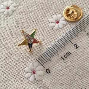 100 pcs Ordem Personalizado Da Estrela Oriental Maçônica Lapela Alfinetes Pin Maçons e Broches Maçons Artesanato De Metal Pequenos Emblemas Bonitos