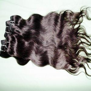 """220 più venduti 5 / 6pcs lot 12 '' - 28"""" 100% Cheap brasiliana elaborato colore dei capelli umani di trama naturale estensioni ondulate"""