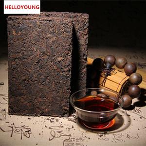 Продвижение 250g Юньнань Классический пуэр чай кирпича Зрелый Pu Er чай Органические Природный черный чай Pu'er кирпича старое дерево Приготовленный пуэр Зеленая пища