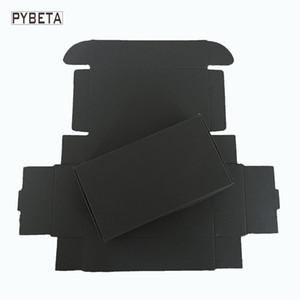 50 pcs- (80-133mm) caixa de aviões de papel Preto para o sabão artesanal caixa de embalagem de presente de jóias DIY