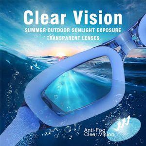 Criativo Óculos de Natação Com Tampões de Ouvido de Silicone Anti Nevoeiro Proteção UV para Homens Adultos Mulheres Juventude Crianças Criança