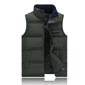 All'ingrosso del panciotto della maglia Slim degli uomini del rivestimento di nuovo di marca Inverno Uomini Giù Gilet senza maniche Outwear termica Casual Vest Men Cotone imbottito
