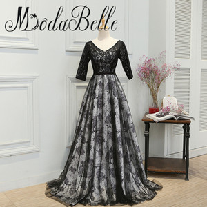 Robe musulmane du soir laço preto mãe dos vestidos de noiva a linha de vestido sem costas vestidos de baile abiye elbiseler