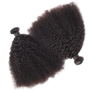 Brezilyalı Bakire İnsan Saç Afro Kinky Kıvırcık Dalga İşlenmemiş Remy Saç Dokuma Çift Atkı 100g / Bundle 2Bundle / Lot Boyalı Ağartılmış Olabilir