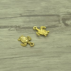150pcs breloques tortue de mer or vintage pendentif en alliage de zinc fit bricolage pour bracelet collier 42C35