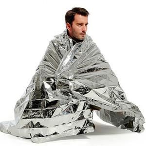 Manta 210cm x 130cm Manta de supervivencia Al aire libre Impermeable Manta de emergencia Rescate Herramientas térmicas de Mylar Primeros auxilios Astilla