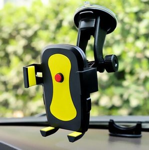 5pcs lot Car Mount stand Grip Adjustable Car Phone Holder Universal 360 Rotation Windshield car holder support cellular phone