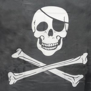Top Grand Pirate Flags Skull and Crossbones Jolly Roger Bandiere pirata Party Banner Hanging w / occhielli 5x3FT bandiere pubblicitarie