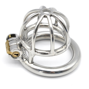 Locking Male Chastity Device Stainless Steel Crafts sexy Cock Cage With Double Ring Large Size Chastity Cage Adult Sex Toys