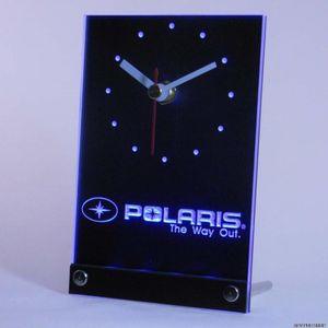 Wholesale-tnc0170 Polaris Kar Araci Masa Masası 3D LED Saat