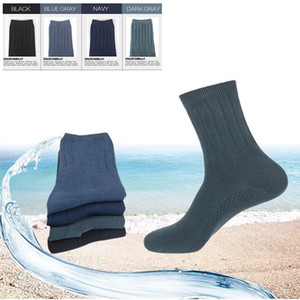 Autumn and Winter business men socks pure color simple classic black leisure socks in the tube thickening ventilation Gentleman sock