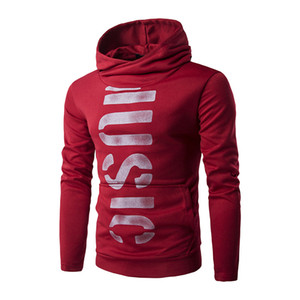 Automne et hiver hommes vêtements nouveau chandail à manches longues personnalité lettres imprimé capuche veste de mode coréenne veste ville