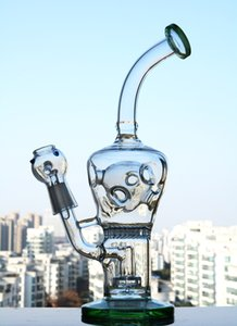 Fab Egg Bong Thick Glass Water Bongs with Holes Beaker Bongs Green Fab Egg Glass Water Pipe Fliter Swiss perc