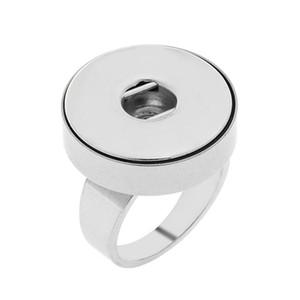 Noosa 덩어리 스테인레스 스틸 12mm 18mm 스냅 버튼 반지 크기 7-10 반지 버튼 생강 스냅 매력 보석에 대한