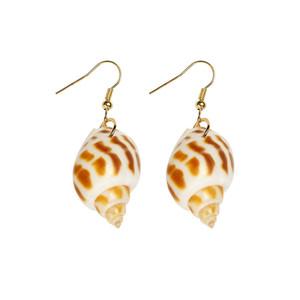 2017 Nouvelle Arrivée Naturel Conch Shell Drop Boucles D'oreilles Exquis Mode Charme Boucles D'oreilles Pour Les Femmes Fantaisie Cadeau Bijoux Meilleure Vente