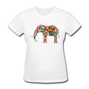 Top Qualität frauen T-shirts Multi Farbe Diamant Elefanten Shirts 2017 Neue Heiße Universum Vogue Mit Rundhalsausschnitt Tees