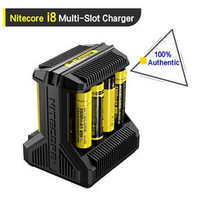 100% Autentico Nitecore I8 Caricabatteria 8 Batterie USB Ricaricabile Uscita Cavo Per 18650 26650 14650 Batterie 18350