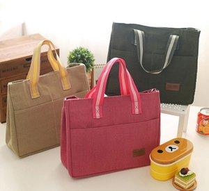 5 pçs / lote 32 * 26 * 12 CM Moda Lunch Bags Cooler Isolada Lunch Bag Para Crianças Mulheres Homens Isolamento Térmico Almoço saco