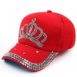 Frauen Krone Neue Vonru Denim Baseball Großhandel - Mützen Hut Sun Jean Hop Mode Rhinestone Baseballkappe Hut Hüfte Kpndg