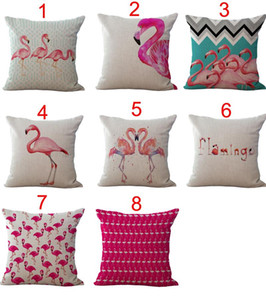 Birds Flamingo Throw Pillow Cases Cushion Cover Pillowcase Home Sofa Square Pillow Case Pillowslip Textiles Christmas Gift