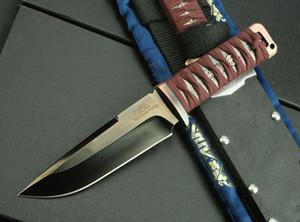 Classique Rockstead Fort Survie Droite Couteau D2 Miroir Lame Polonaise En Plein Air Camping Randonnée Chasse Lame Fixe Couteaux avec Kydex