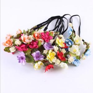 18 pouces Bohemian Flower Bandeau Festival Festival Garland Florand Bands Cheveux Headwear Accessoires pour femmes