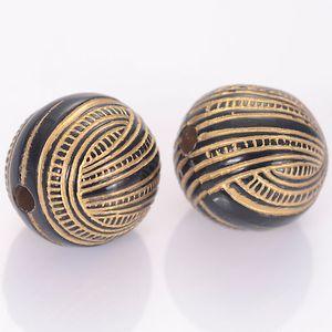 40 шт 16мм Полосатые Круглые акриловые Античные Дизайн шарики для женщин Diy браслет ювелирных изделий Изготовление аксессуаров