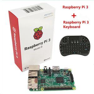 Freeshipping Raspberry Pi 3 Modelo B Com Wi-fi Bluetooth + i8 Mini 2.4G Sem Fio Mini Teclado Para Pi Laranja PC Android TV Raspberry Pi 3