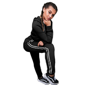 Russie TIDE FEMMES EXPLOSION Sweat à capuche Sweat à capuche Rouge Jaune Sweat Sexy Sweatshirt Set Courts Tops Ajouter un groupe élastique Cordon de cordon long pantalon de sport