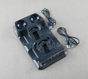 Caricatore rapido 4 in 1 Caricabatteria doppio Dock Base per controller wireless PS4 per controller di movimento L / R PS