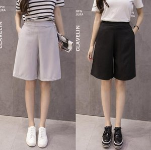 Free shipping Pants female summer wide leg high waist skirt pants casual WS002 Women's Shorts