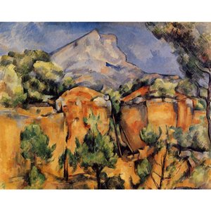 Impressionist painting by Paul Cezanne Mont Sainte-Victoire Seen from the Bibemus Quarry Canvas Reproduction modern art Handmade
