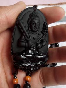 Alta qualità naturale giada ciondolo buddha craving grande pietra pendente collana gioielli uomo A1