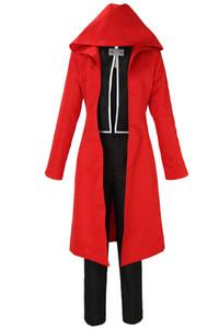 Fullmetal Alchemist Disfraz de Halloween Edward Elric Cosplay Red Suit completo