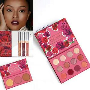 2017 NUEVO ColourPop Fem Rosa Set 12 color Eye Shadow +3 color Highlighter +3 color Mate lápiz labial Buena calidad Kit de lujo DHL envío gratis