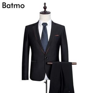 Wholesale- 2017 new arrival High quality wool men's weding dress,one button casual suit men,black men's Business suits,plus-size S -3XL