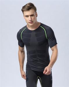 Esportes terno apertado dos homens, confortável, de secagem rápida respirável instrutor de corrida terno, Europa e nos Estados Unidos da aptidão dos homens T-shirt sh