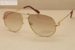 Alta qualidade 1038366 estilo metal dos óculos de sol de marca designer de óculos de prata de ouro moldura de metal Eyewear óculos Frame Size: 59-12-140mm