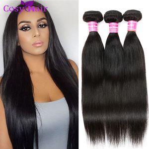 Необработанные норки бразильские прямые волосы 3 или 4 комплекта Предложения Remy Человеческие волосы Weave Уютные 100 г Дешевые наращивания человеческих волос Double Weft