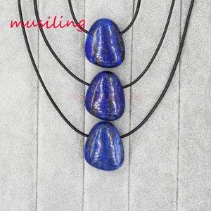 Pendenti delle collane Geometric Stone Pendant Necklace Chain Natural Crystal Lapis Lazuli ecc. Pendenti Pendulum Fashion Women Mens Jewelry