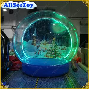 Illuminated gonflable Globe de neige pour la décoration de Noël, Bonne qualité neige Globe Photographie, Gonflable humaine Taille neige Globe