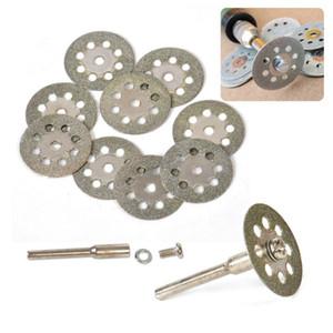 10x20mm elmas kesme diskleri kesme taş kesme aracı için disk aşındırıcılar kesme dremel döner aracı aksesuarları dremel kesici