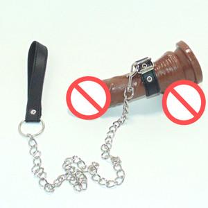 Взрослые игры пенис кольцо цепь петух клетка с металлическими поводками бондаж секс-игрушки для мужчин