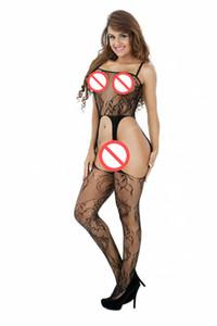 holllow sur bodystocking voir sexy grâce à la lingerie de LANGERIE des femmes vêtements de nuit nuisette bodysuit collants opaques sous-vêtements