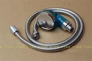 파란색 큰 크기 hairsalon ABS 마사지 분무기 머리 샴푸 침대 이발소 SPA 물 필터 이온 샤워 노즐 + 1.2 m 스테인레스 스틸 호스