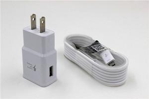 Duvar Şarj + 1.5 m Mikro Kablo Data Sync Samsung S8 S7 s6 not4 not 5 Için Adaptif Hızlı Şarj 50 Lot