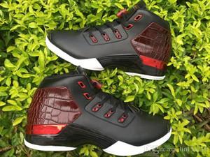 XVII Atacado 17 Bred dos homens Touro Airs Sports Basketball Shoes 17s cobre branco Air Esporte Formadores Tamanho 41-46